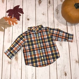 Gymboree fall plaid long sleeve 6-12 months